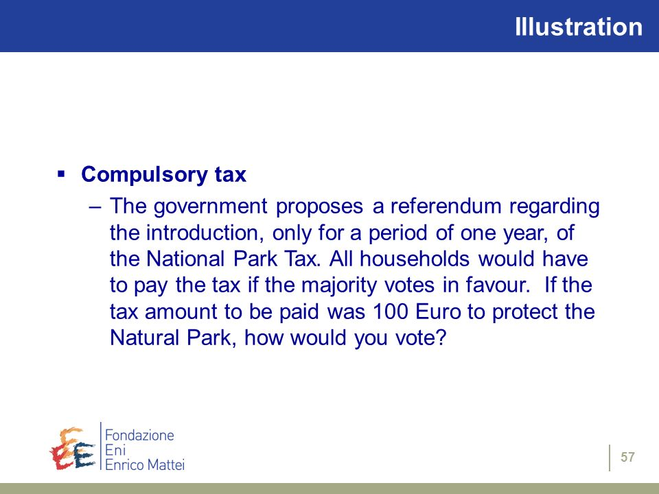 Illustration Compulsory tax