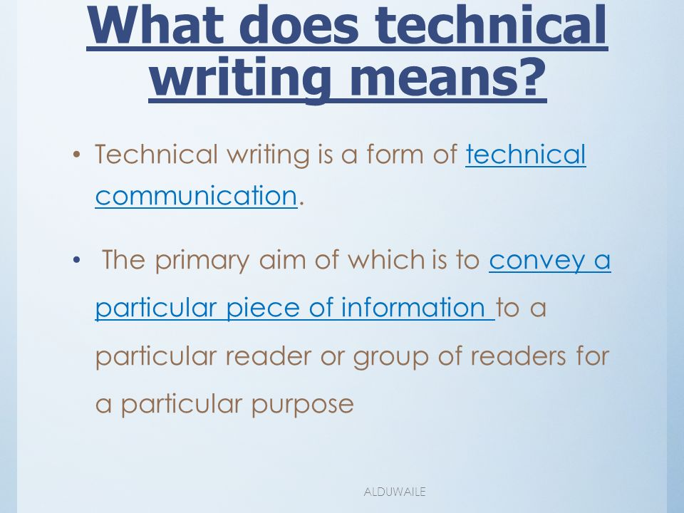 how to do technical writing Technical writing: how to's, tutorials, and directions we need a set of instructions for some of our equipment how do you write quality, step-by-step instructions.