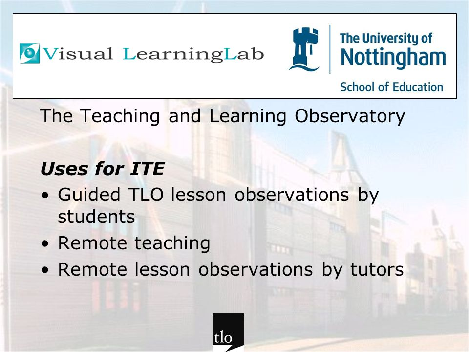The Teaching and Learning Observatory