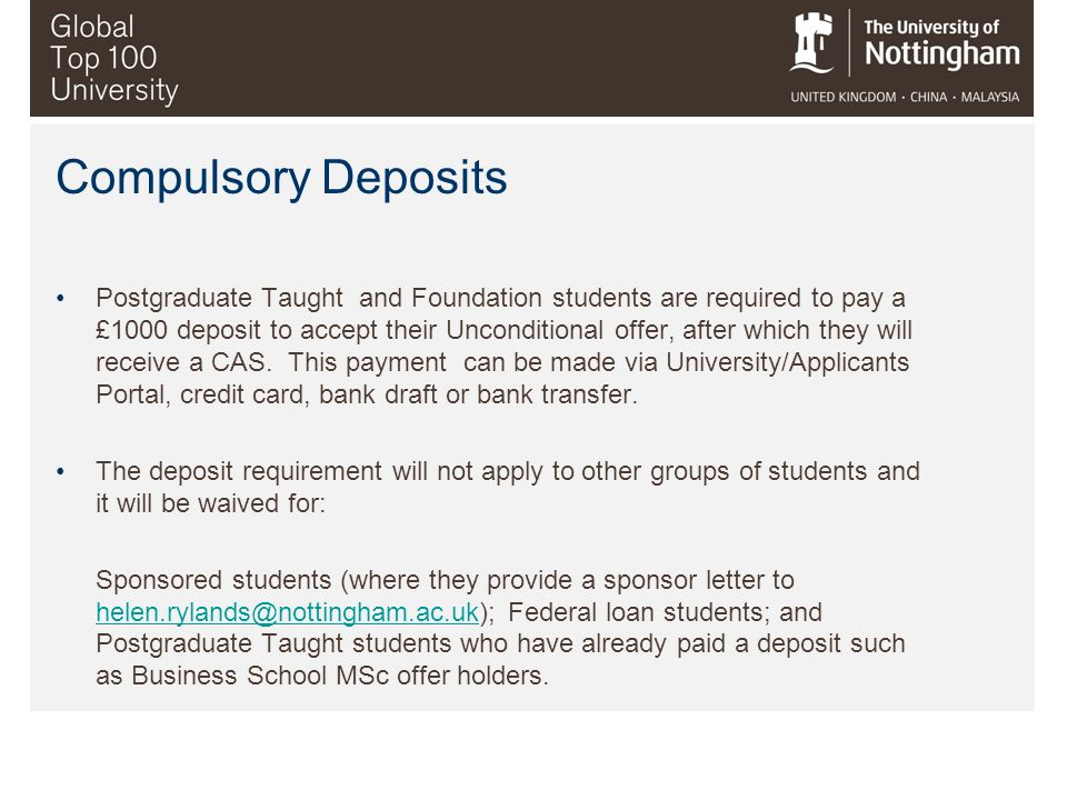Compulsory Deposits