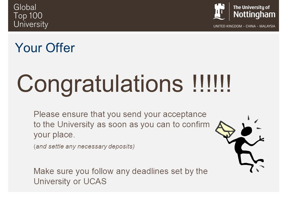 Congratulations !!!!!! Your Offer