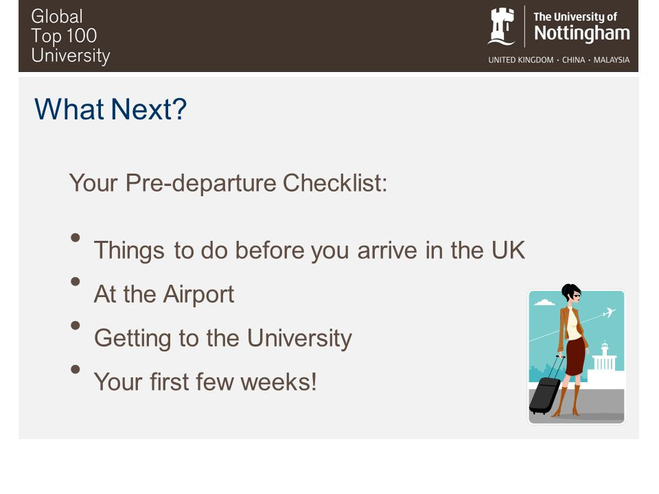 Your Pre-departure Checklist: Things to do before you arrive in the UK