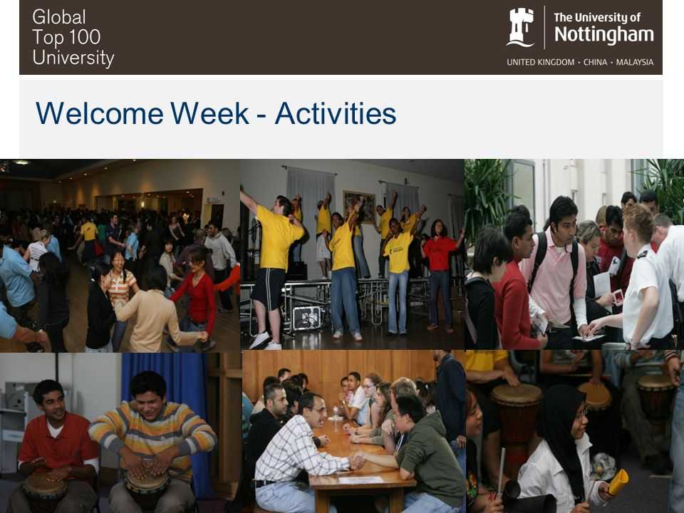 Welcome Week - Activities