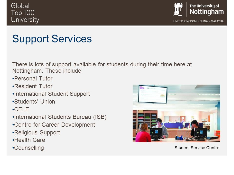 Support Services Student Service Centre