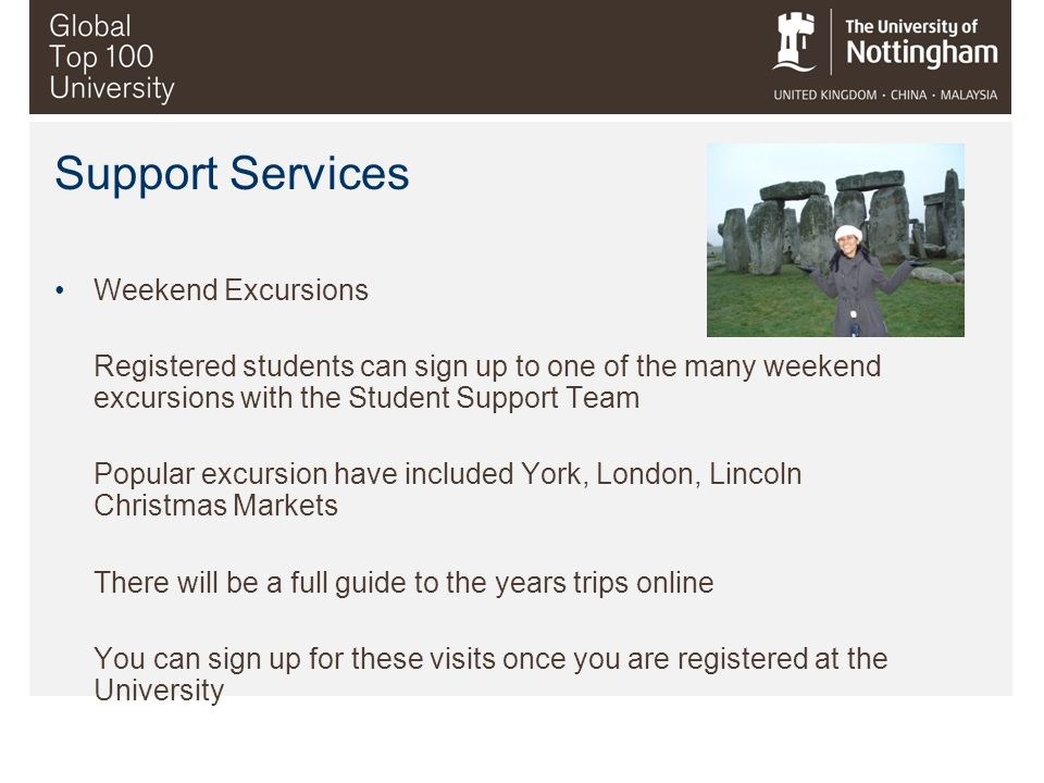 Support Services Weekend Excursions