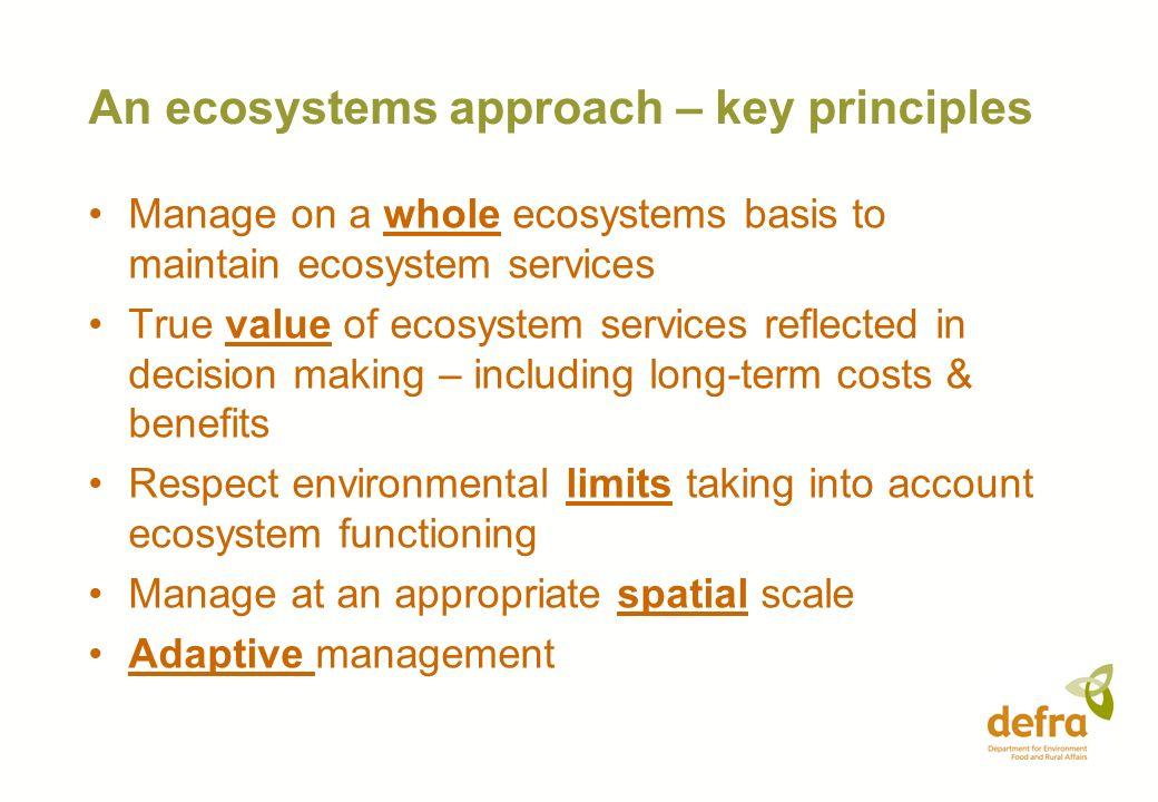 An ecosystems approach – key principles