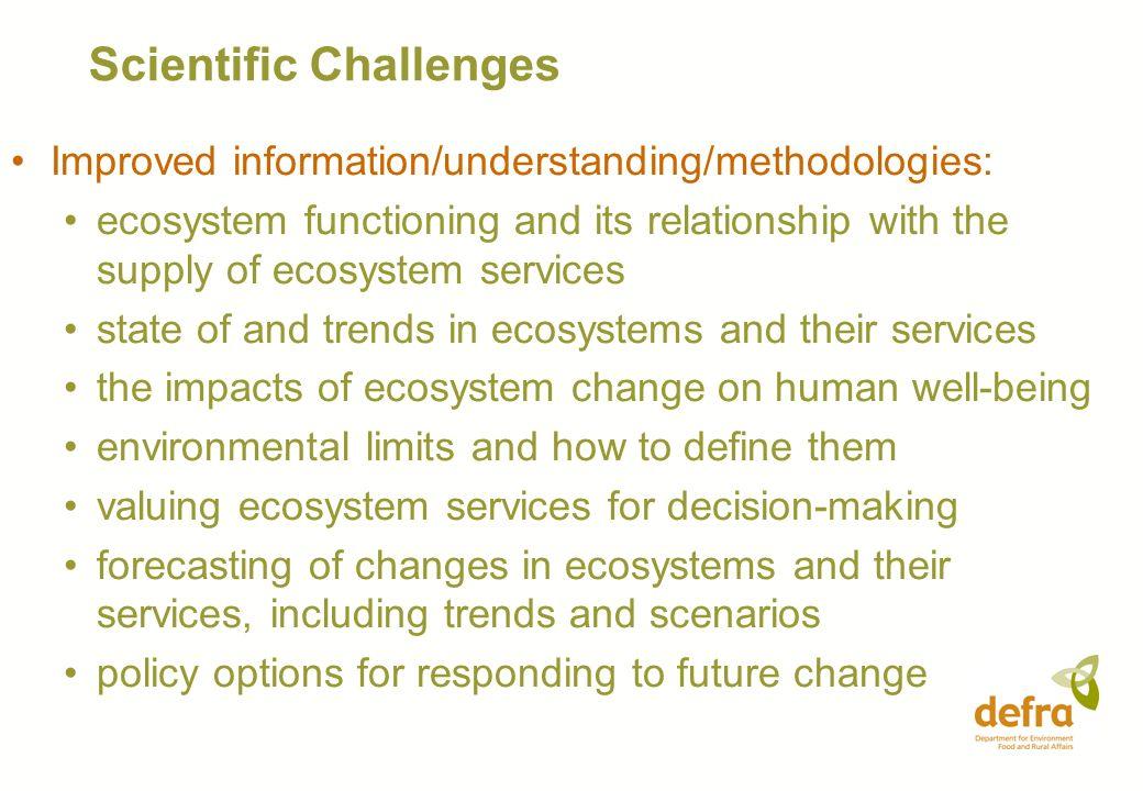 Scientific Challenges