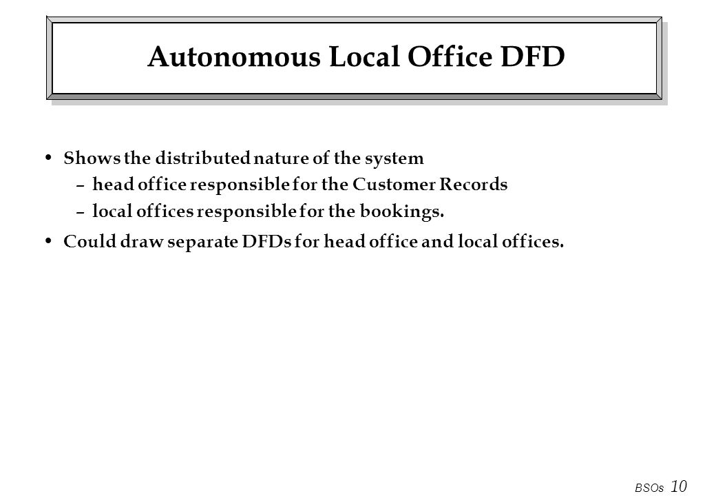 Autonomous Local Office DFD