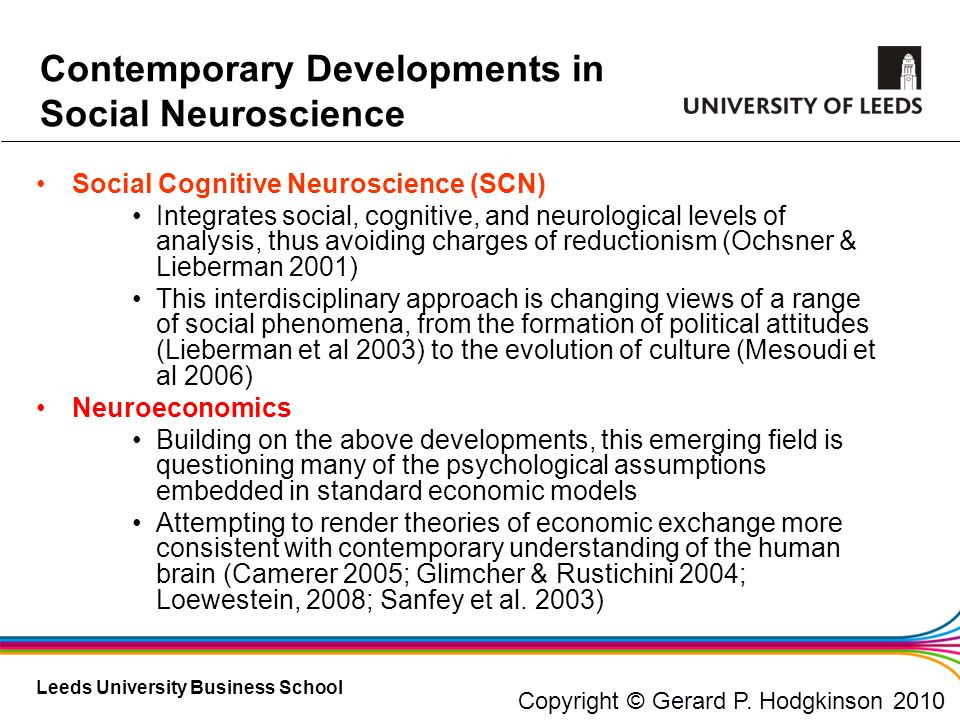 Contemporary Developments in Social Neuroscience