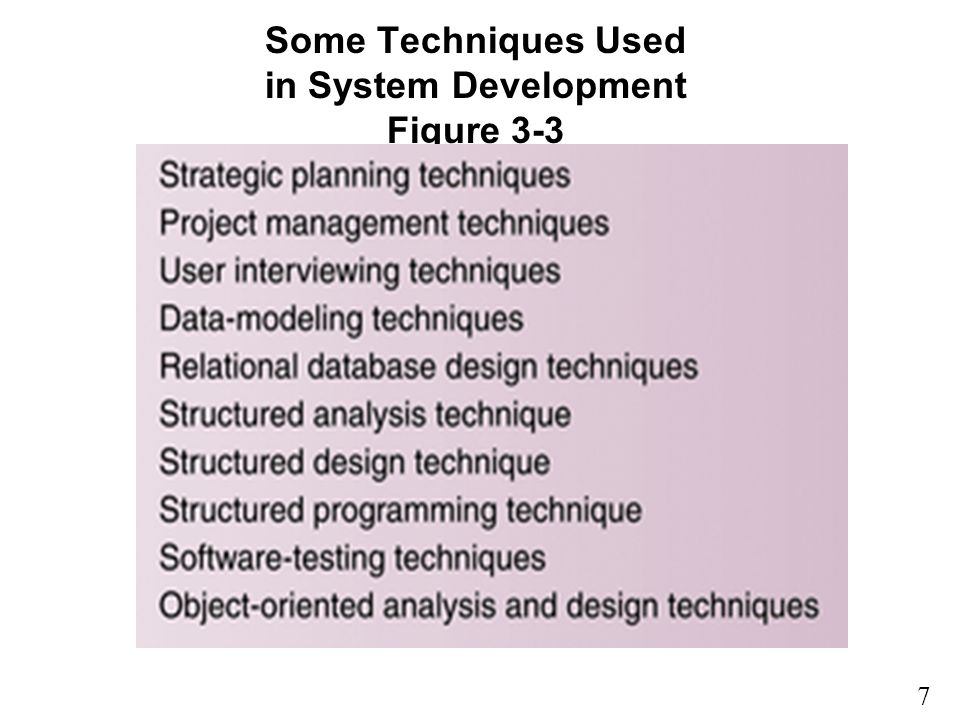 Some Techniques Used in System Development Figure 3-3