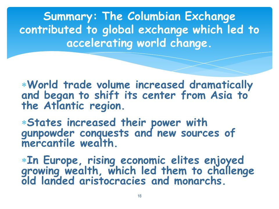 columbian exchange chocolate and its interaction The columbian exchange is the exchange of food, plants, animals and diseases   corn, potatoes, pineapples, tomatoes, tobacco, beans, vanilla, chocolate and.