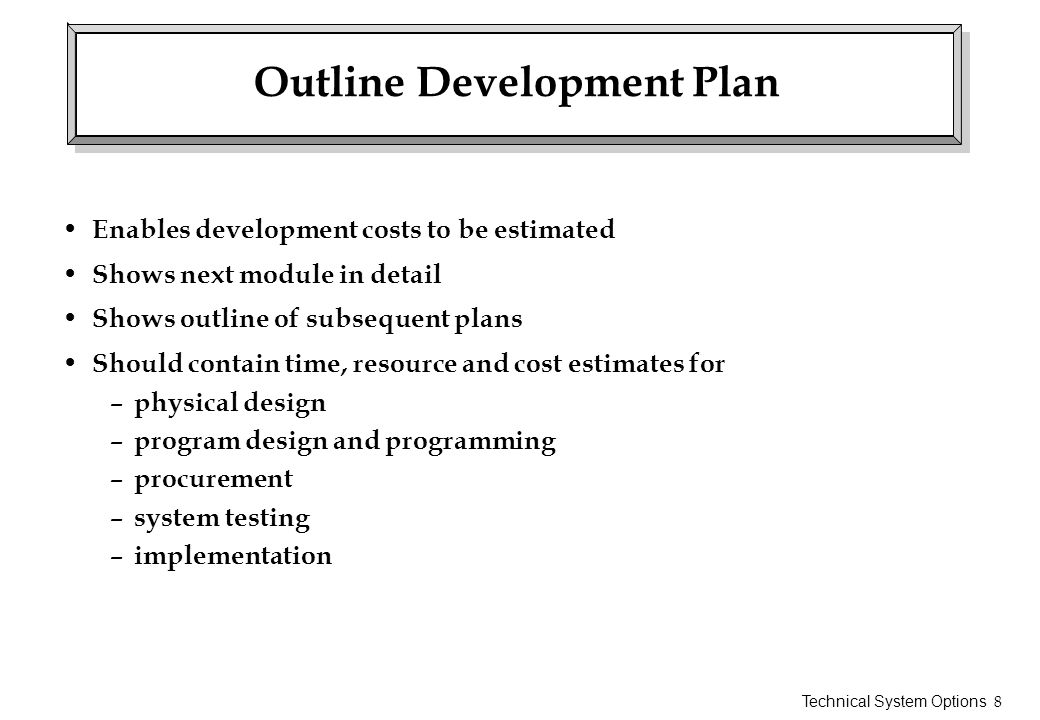Outline Development Plan