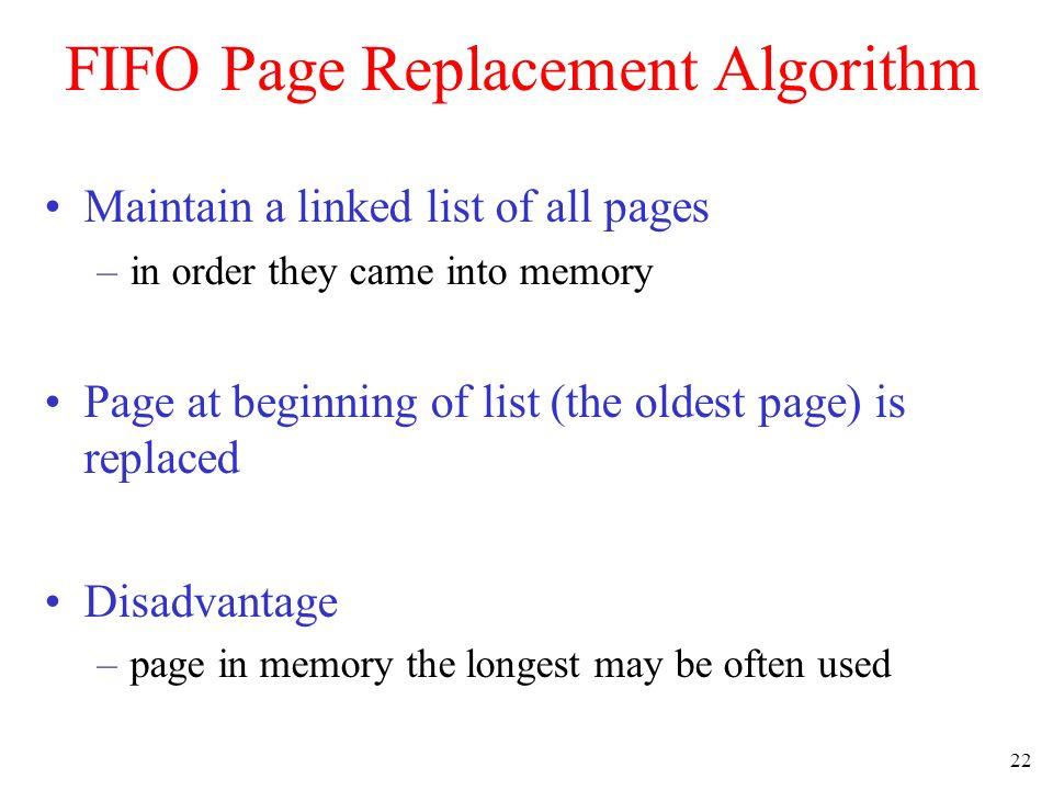FIFO Page Replacement Algorithm