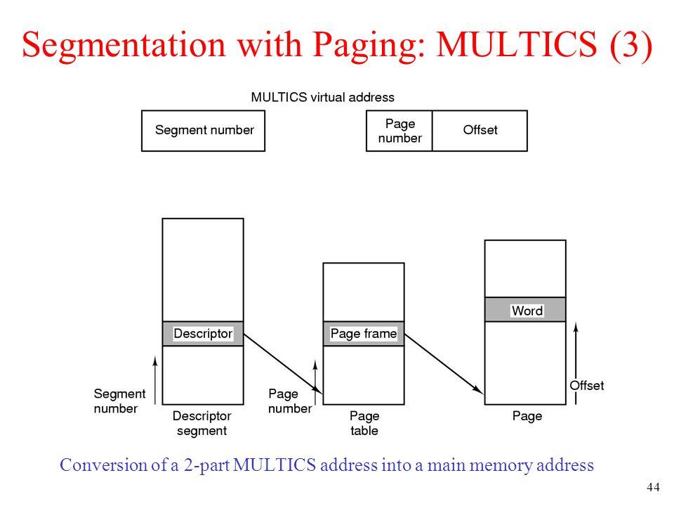 Segmentation with Paging: MULTICS (3)