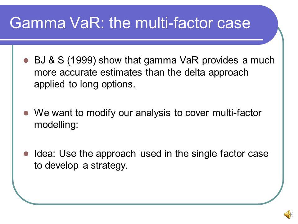 Gamma VaR: the multi-factor case