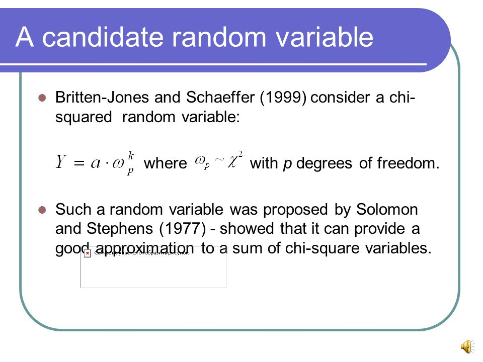 A candidate random variable