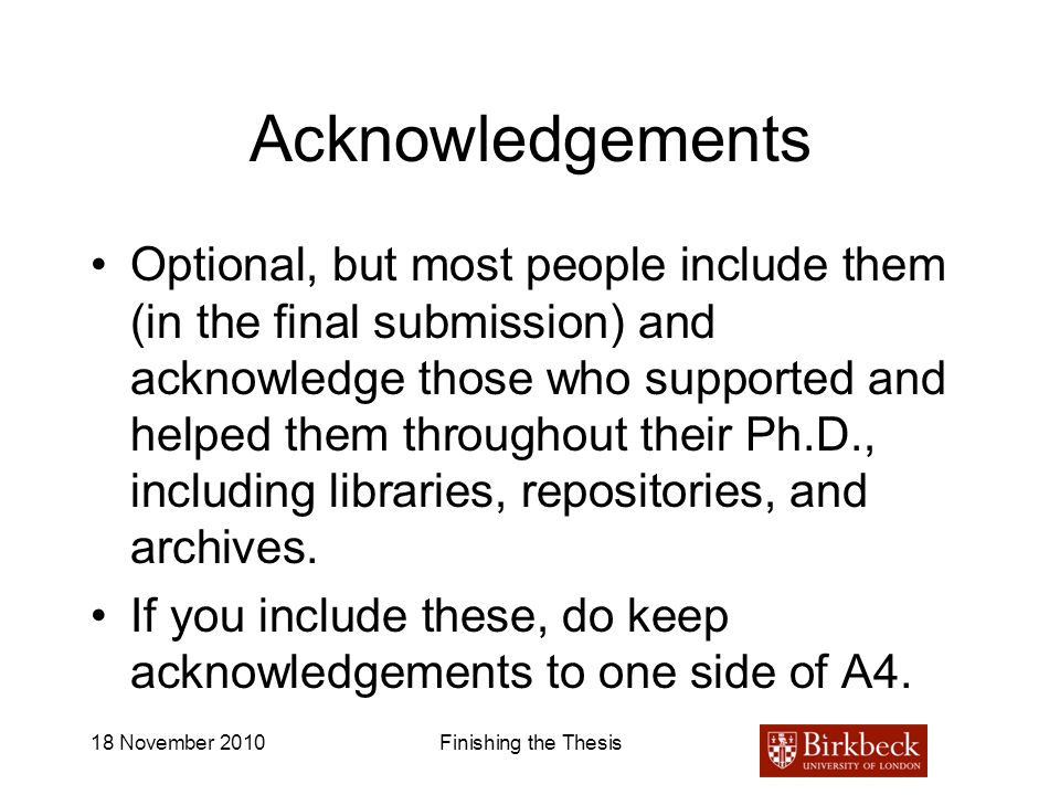 acknowledgement of phd thesis