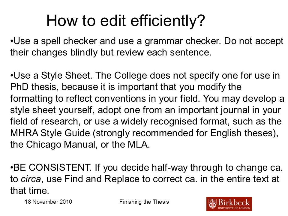 How to edit efficiently