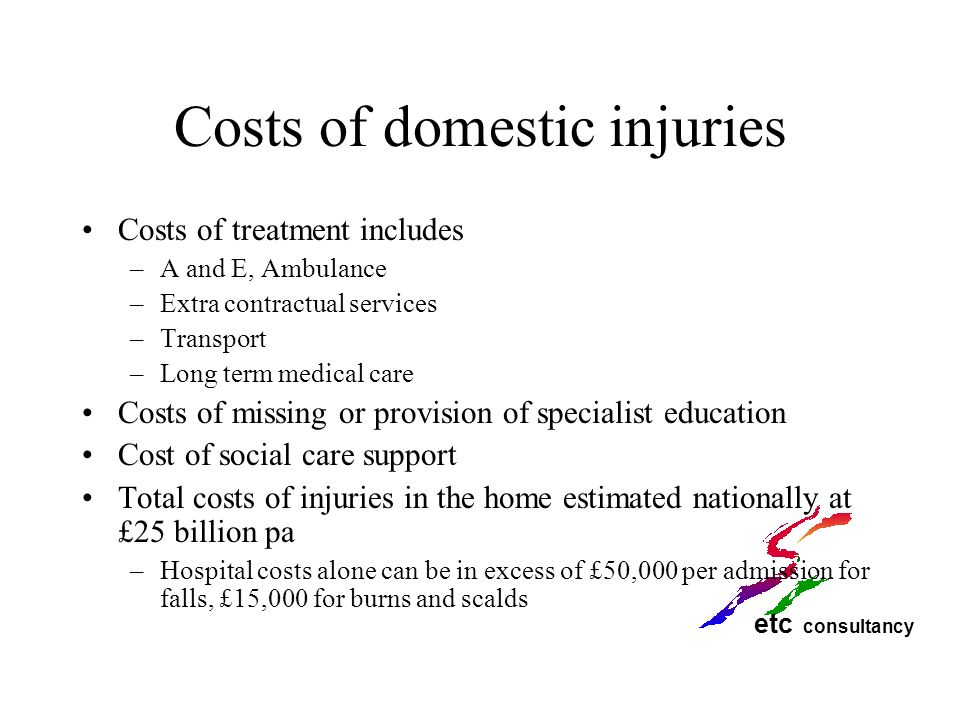 Costs of domestic injuries