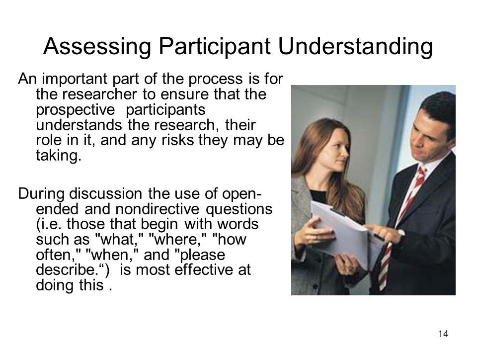 Assessing Participant Understanding