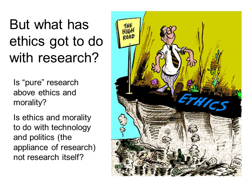 But what has ethics got to do with research
