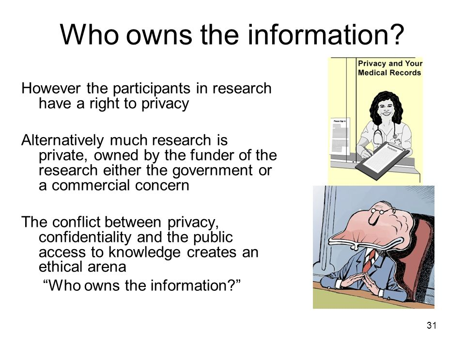 Who owns the information