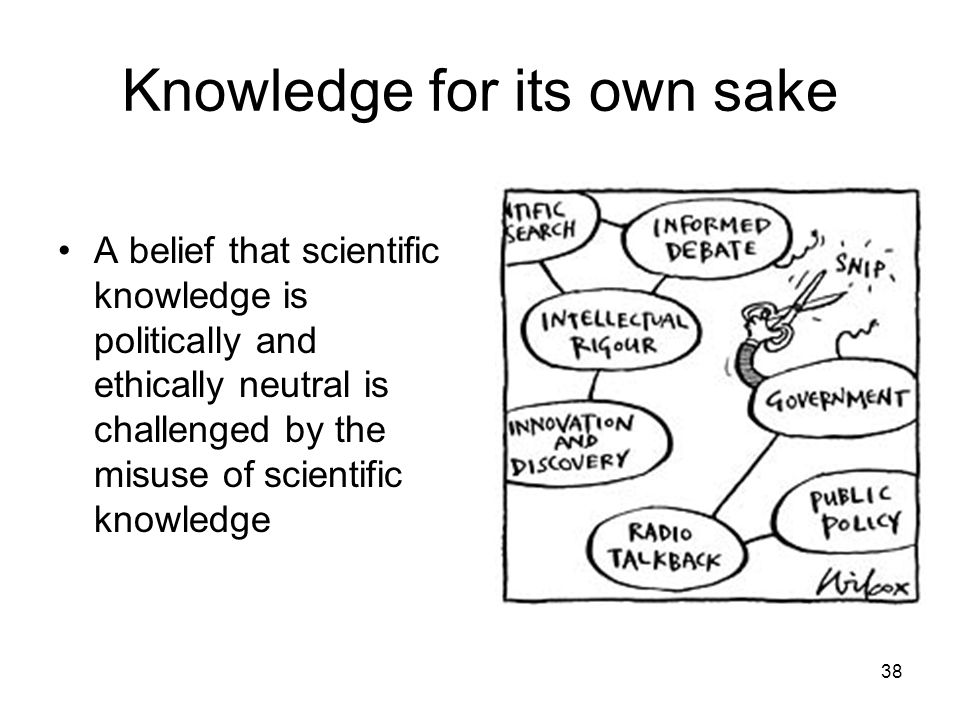 Knowledge for its own sake