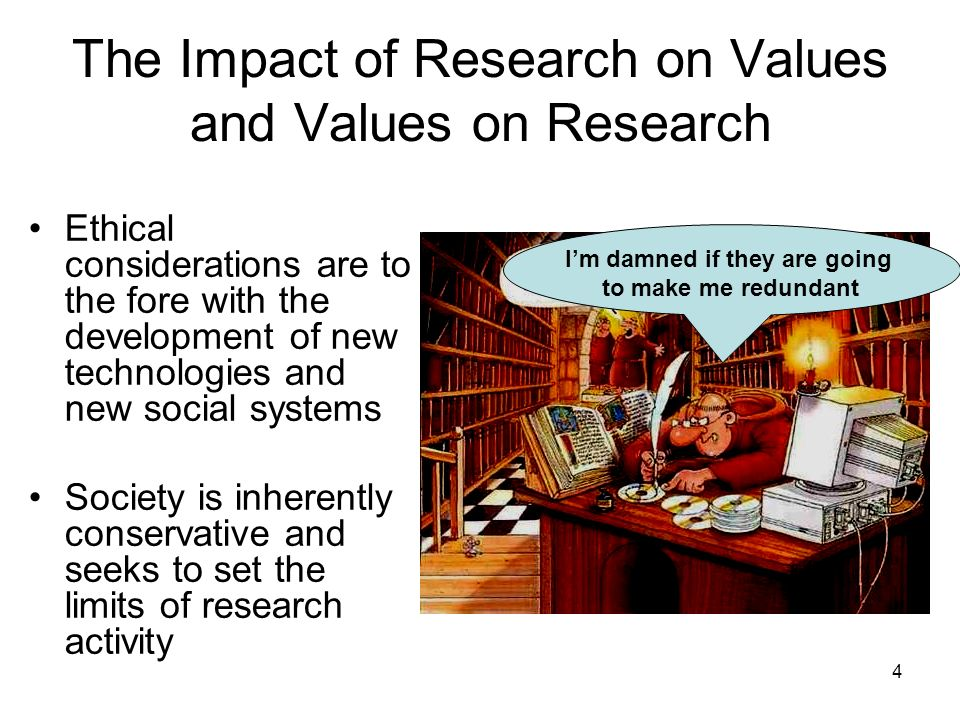 The Impact of Research on Values and Values on Research