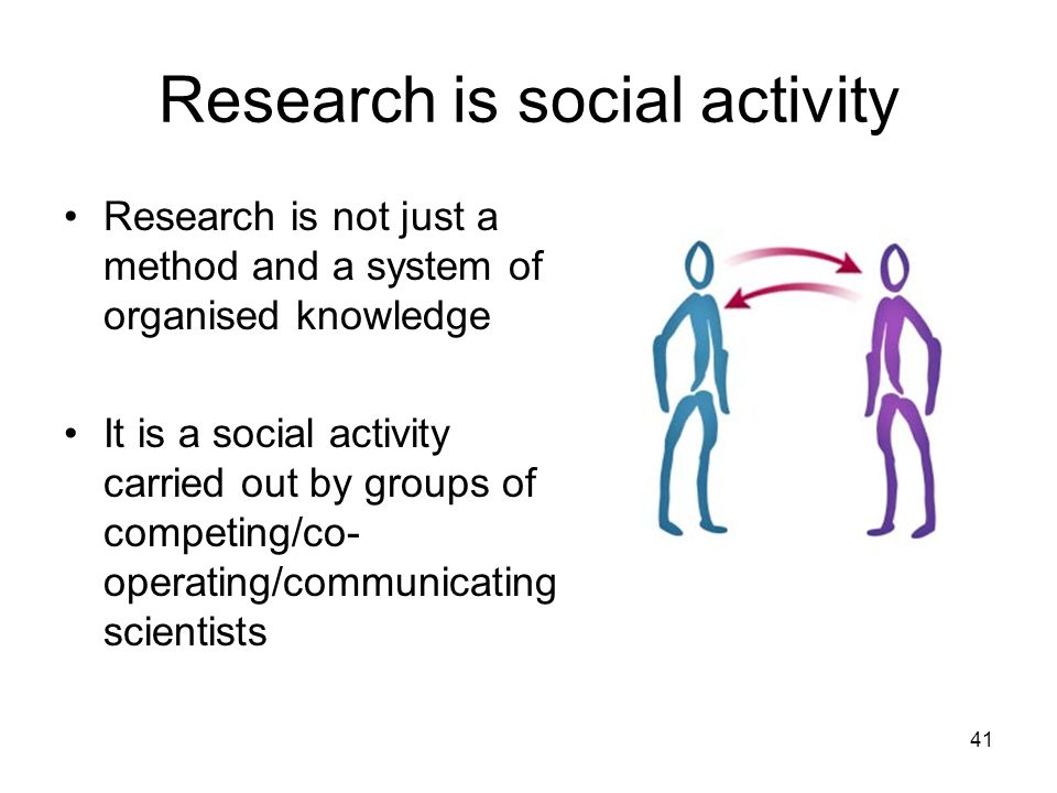 Research is social activity