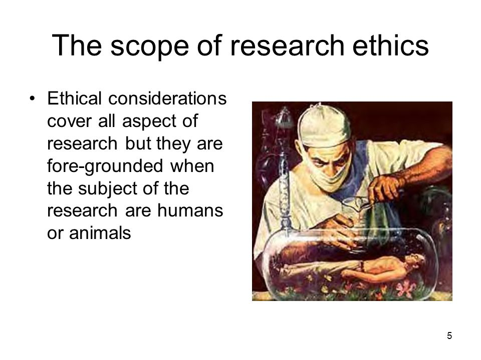 The scope of research ethics