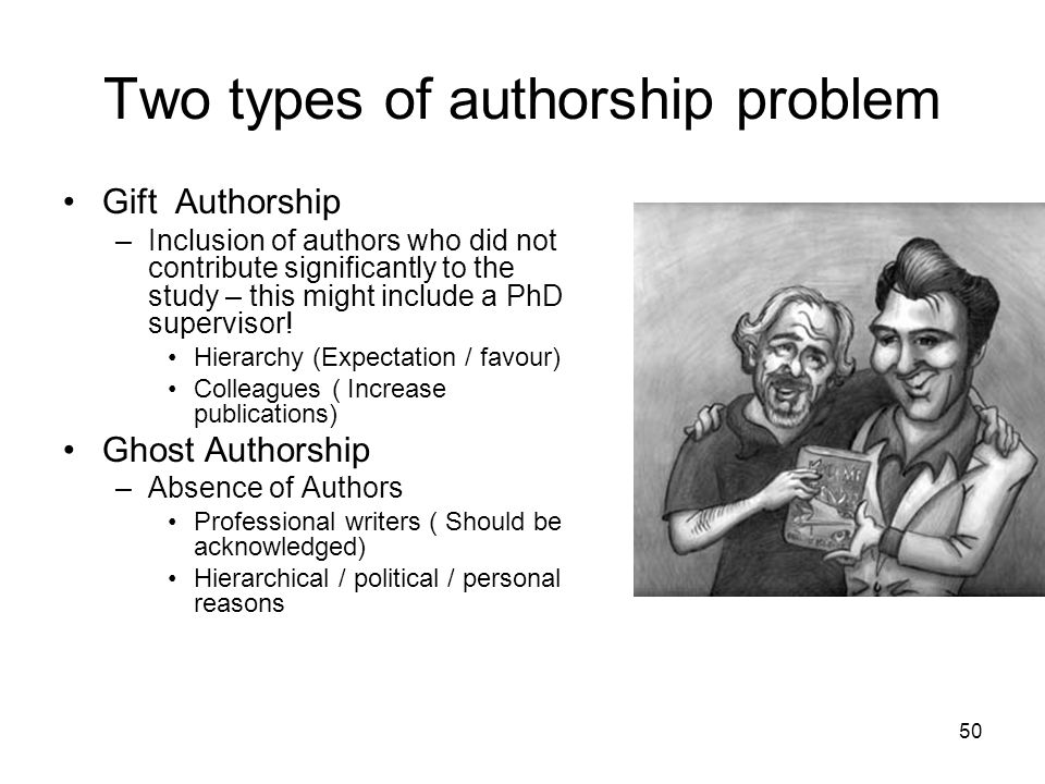 Two types of authorship problem