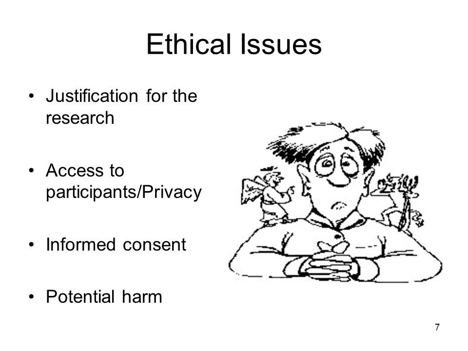 Ethical Issues Justification for the research