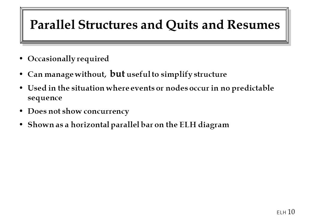 Parallel Structures and Quits and Resumes