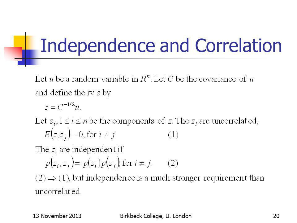 Independence and Correlation