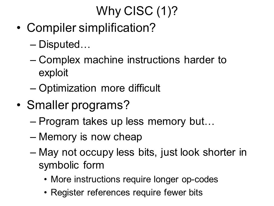 Compiler simplification