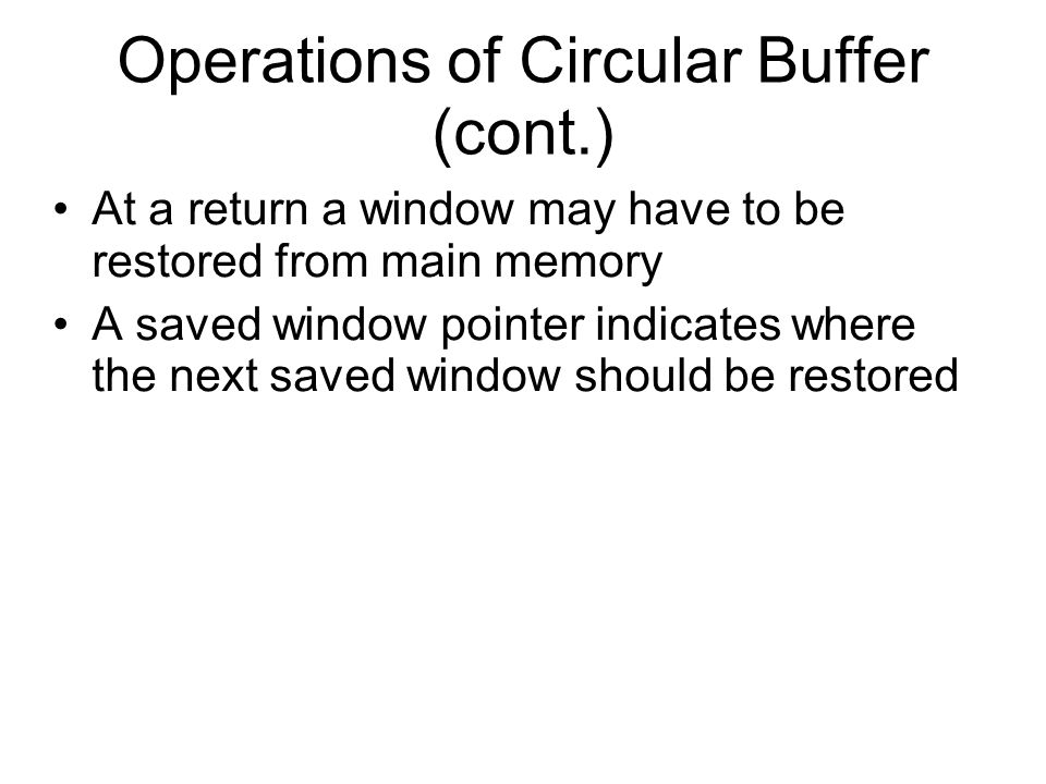 Operations of Circular Buffer (cont.)