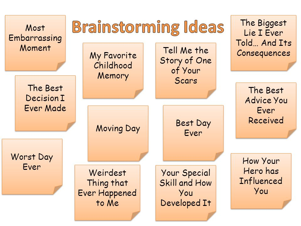 personal narrative unit ppt video online  3 brainstorming