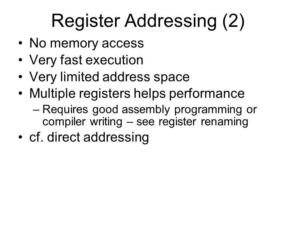 Register Addressing (2)