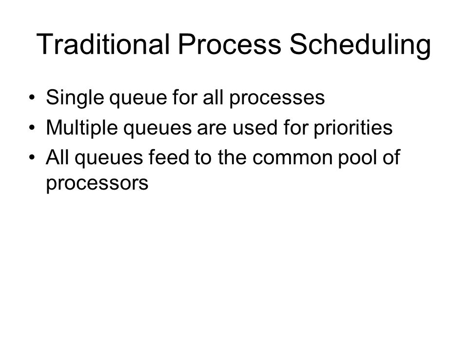 Traditional Process Scheduling