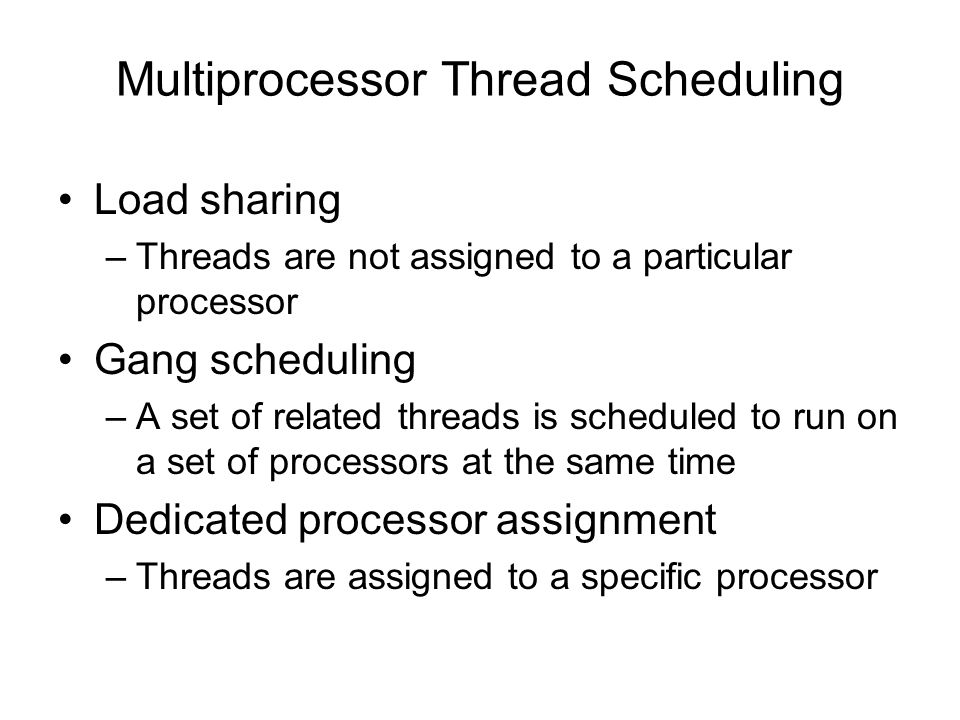 Multiprocessor Thread Scheduling