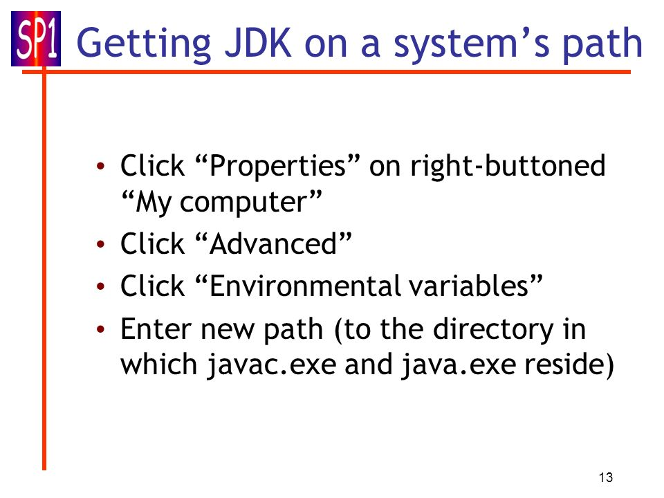 Getting JDK on a system's path