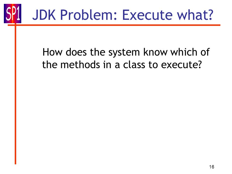 JDK Problem: Execute what