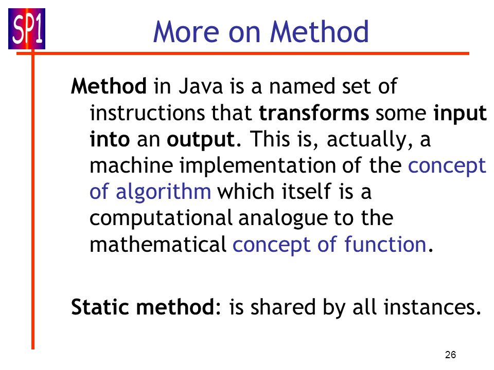 More on Method
