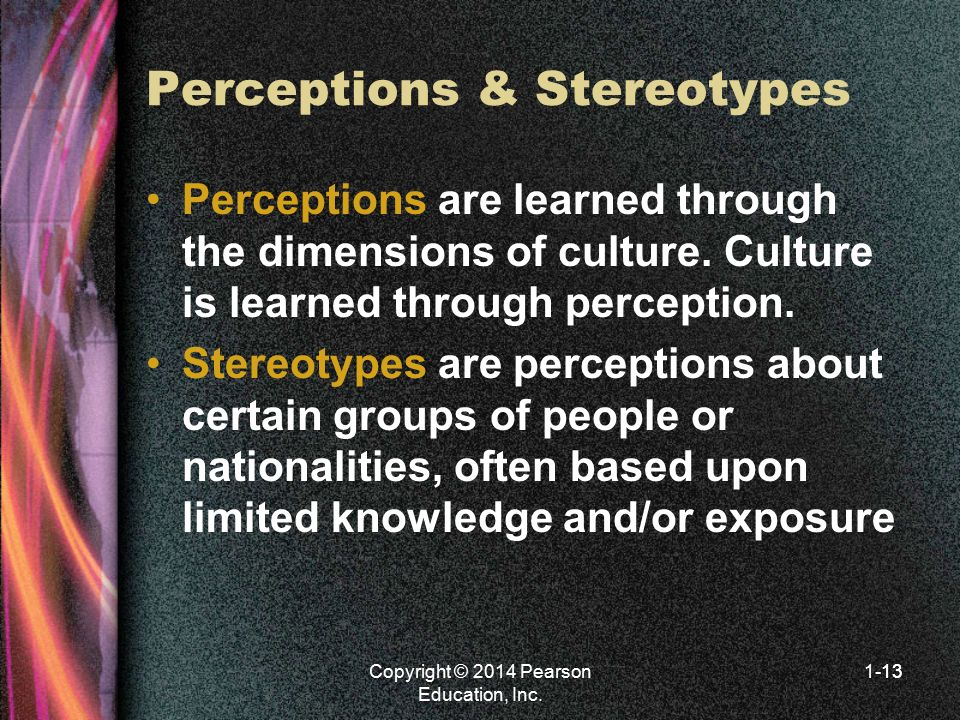 Perceptions & Stereotypes