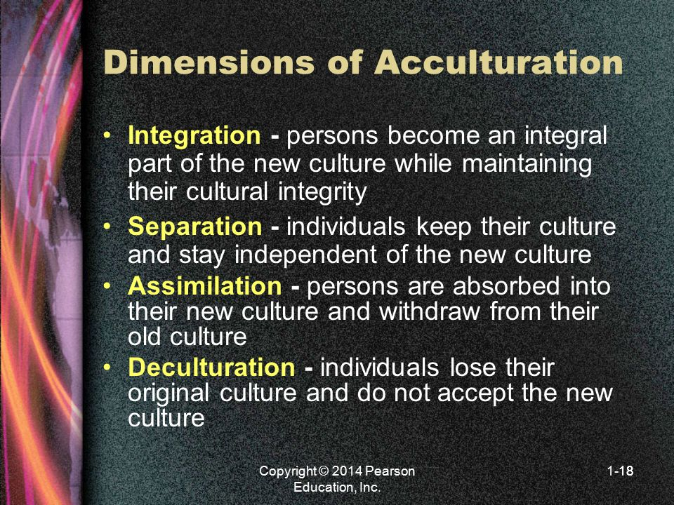 Dimensions of Acculturation