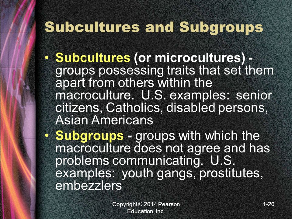 Subcultures and Subgroups