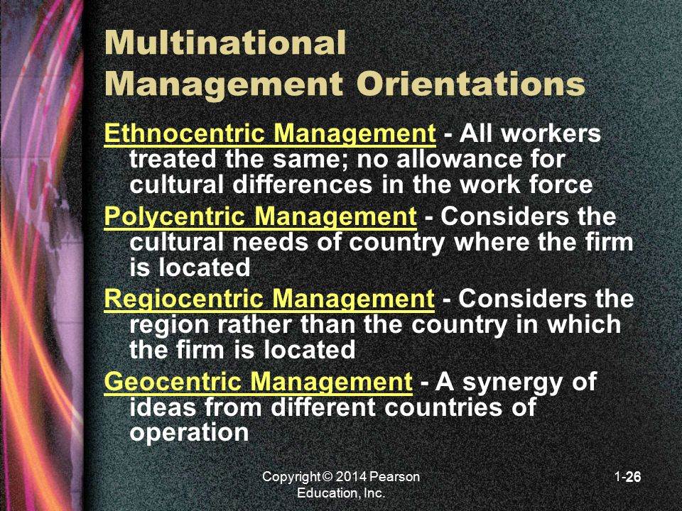 Multinational Management Orientations