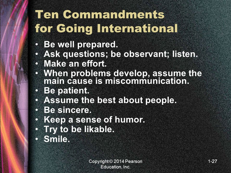 Ten Commandments for Going International