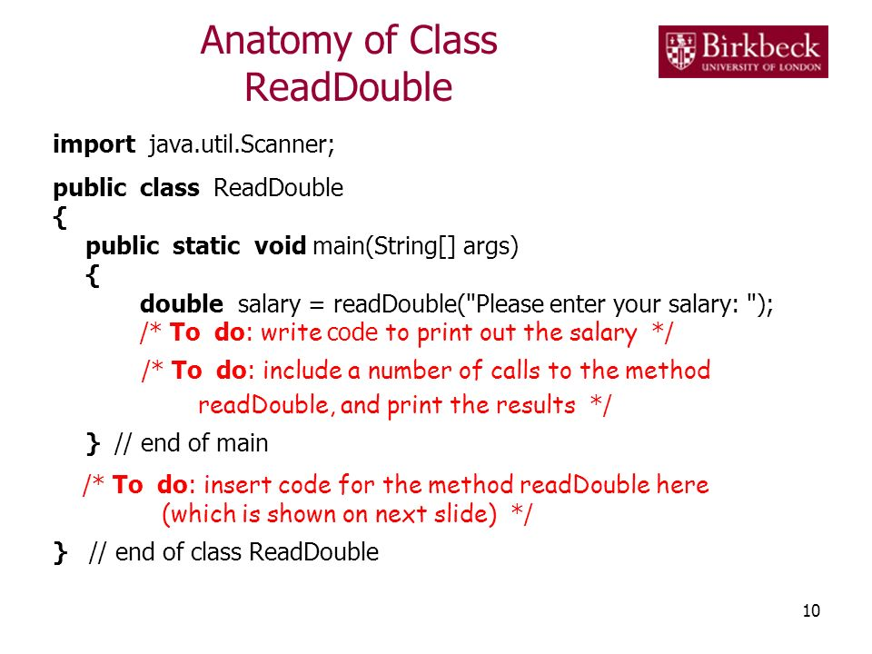 Anatomy of Class ReadDouble