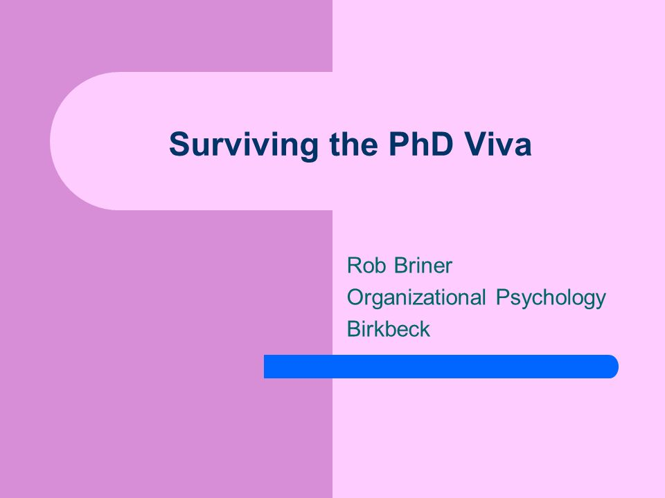 Rob Briner Organizational Psychology Birkbeck